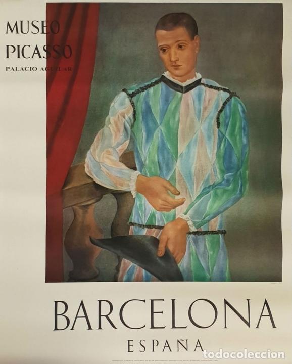 Arte: COLECCIÓN DE 5 CARTELES DEL MUSEO PICASSO. ORIGINALES. BARCELONA. 1966. - Foto 2 - 141746210