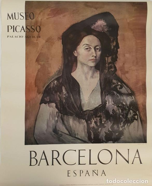 Arte: COLECCIÓN DE 5 CARTELES DEL MUSEO PICASSO. ORIGINALES. BARCELONA. 1966. - Foto 3 - 141746210