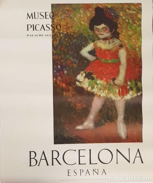 Arte: COLECCIÓN DE 5 CARTELES DEL MUSEO PICASSO. ORIGINALES. BARCELONA. 1966. - Foto 4 - 141746210