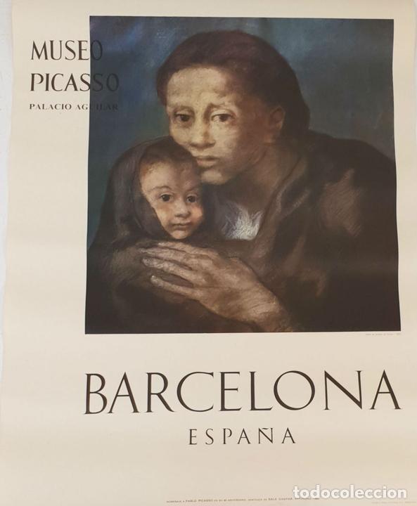 Arte: COLECCIÓN DE 5 CARTELES DEL MUSEO PICASSO. ORIGINALES. BARCELONA. 1966. - Foto 5 - 141746210