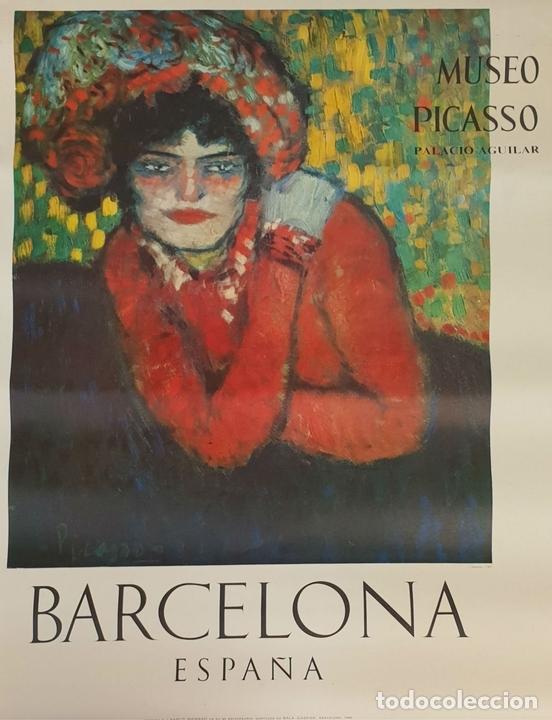 Arte: COLECCIÓN DE 5 CARTELES DEL MUSEO PICASSO. ORIGINALES. BARCELONA. 1966. - Foto 10 - 141746210