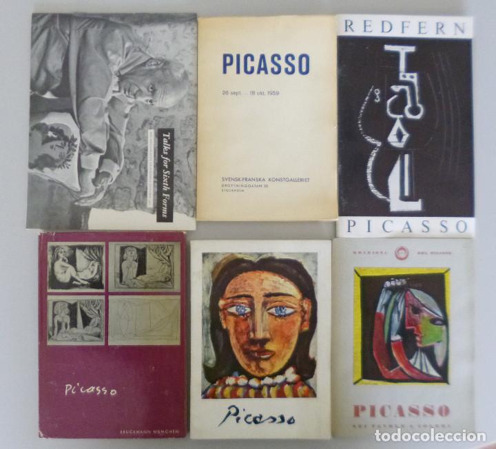 LOTE 6 CATALOGOS Y RAREZAS DE PICASSO // AÑOS 50-60 // ESCASOS EN COMERCIO // DISTINTOS IDIOMAS (Arte - Catálogos)