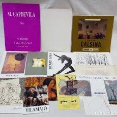 Arte: PINTURA. 16 CATÁLOGOS, DÍPTICOS, POSTALES, ETC. EXPOSICIONES ARTISTAS EN DIVERSAS SALAS.AÑOS 1973-95. Lote 142777402