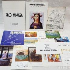Arte: PINTURA. 17 CATÁLOGOS, DÍPTICOS, POSTALES, ETC. EXPOSICIONES ARTISTAS EN DIVERSAS SALAS.AÑOS 1973-95. Lote 142777634