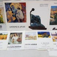 Arte: PINTURA. 10 CATÁLOGOS Y POSTALES EXPOSICIONES ARTISTAS EN SALA D'ART TRAMONTAN. AÑOS 1992 - 94. . Lote 142778690