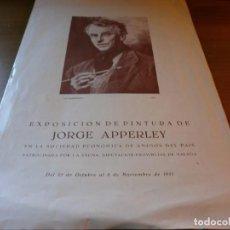 Arte: CATÁLOGO EXPOSICIÓN DE PINTURA JORGE APPERLEY - SOCIEDAD ECONÓMICA DE AMIGOS DEL PAÍS, MÁLAGA, 1951. Lote 142846826