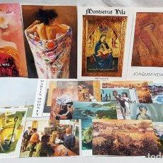 Arte: PINTURA. LOTE 18 CATÁLOGOS, POSTALES, EXPOSICIONES GALERIA D'ART FEBO. AÑOS 1991 - 93.. Lote 142861714