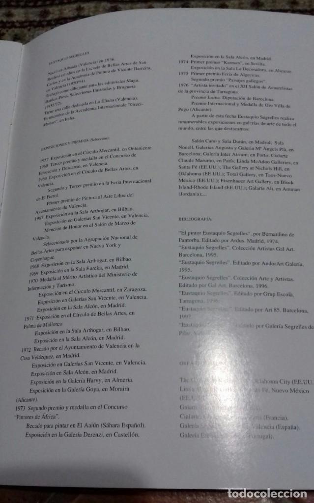 Arte: EUSTAQUIO SEGRELLES. CATÁLOGO DE EXPOSICIÓN GALERIA SEGRELLES DEL PILAR. 2000. FIRMADO Y DEDICADO. - Foto 9 - 143349832