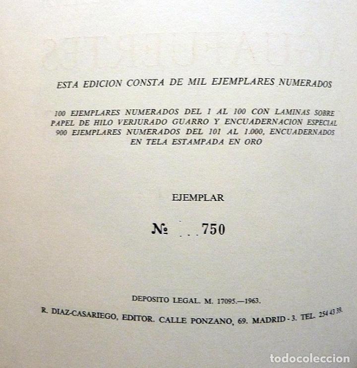 Arte: JOSÉ GUTIÉRREZ SOLANA: AGUAFUERTES Y LITOGRAFÍAS. OBRA COMPLETA - EJEMPLAR NUMERADO - 1963 - Foto 3 - 143623050