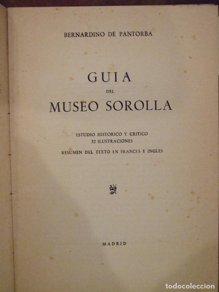 Arte: GUIA DEL MUSEO SOROLLA - BERNARDINO DE PANTORBA 32 ILUSTRACIONES - GRAFICAS NEBRIJA MADRID 1951 - Foto 3 - 143717050