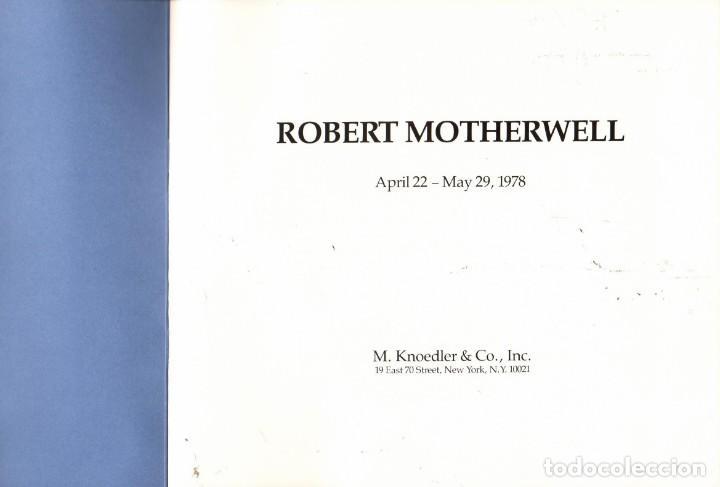 ROBERT MOTHERWELL (EXPOSICIÓN 1978) (Arte - Catálogos)