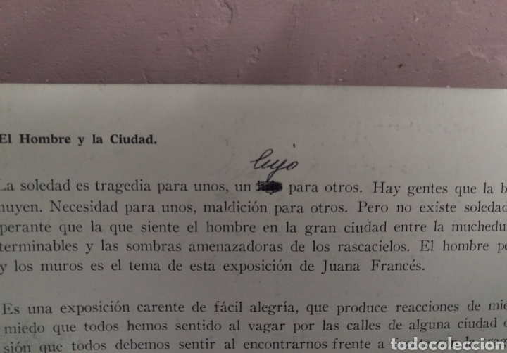 Arte: JUANA FRANCÉS / GALERÍA JUANA MORDÓ - MADRID, MAYO 1965 - Foto 4 - 145328830