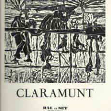 Arte: CLARAMUNT, GALERÍA DAU AL SET.OLEOS 1976. Lote 145851798