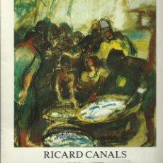 Arte: RICARD CANALS, GALERÍA DAU AL SET, 1976. Lote 145854126