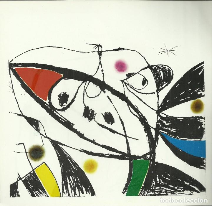 Arte: Miro , Sala pelaires,Mallorca 1973, 9 dibujos. Carpeta sin encuadernar para disponer de los dibujos - Foto 4 - 145982446
