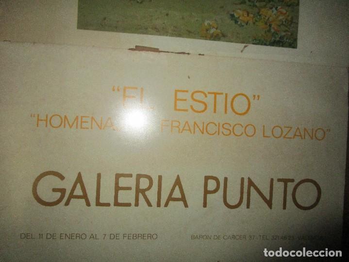 Arte: CARTEL ANTIGUO PINTURA VALENCIANA ANTONIO FERRI EXPOSICION HOMENAJE A FRANCISCO LOZANO VALENCIA - Foto 4 - 146249366