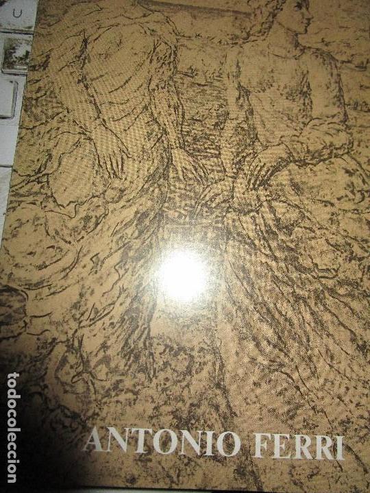 CATALOGO DIPTICO PINTOR ANTONIO FERRI LOTE PINTOR VALENCIANO (Arte - Catálogos)
