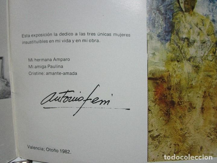 Arte: ANTONIO FERRI PINTOR VALENCIA HOMENAJE A LA MUJER CATALOGO GALERIA KREISLER MADRID - Foto 4 - 146463282