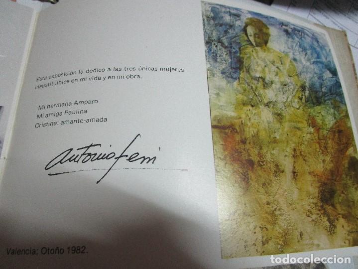 Arte: ANTONIO FERRI PINTOR VALENCIA HOMENAJE A LA MUJER CATALOGO GALERIA KREISLER MADRID - Foto 11 - 146463282