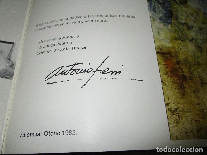 Arte: ANTONIO FERRI PINTOR VALENCIA HOMENAJE A LA MUJER CATALOGO GALERIA KREISLER MADRID - Foto 12 - 146463282