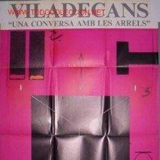Arte: JOAN PERE VILADECANS. CATALOGO-POSTER EXPO *UNA CONVERSA AMB LES ARRELS* BCN 1980.. Lote 146757474