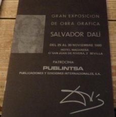 Arte: CATALOGO EXPOSICION SALVADOR DALI OBRA GRAFICA AÑO 1980 HOTEL MACARENA SEVILLA PUBLINTSA. Lote 147167430