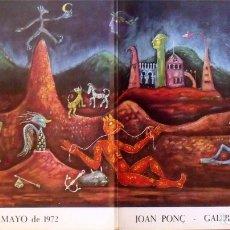 Arte: CATÁLOGO JOAN PONÇ - GALERÍA RENÉ MÉTRAS, PRESENCIAS DE NUESTRO TIEMPO. ABRIL - MAYO 1972. 50 PÁG.. Lote 285402198