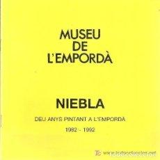 Arte: NIEBLA. DEU ANYS PINTANT A L' EMPORDA. Nº 69. FIGUERES : MUSEU DE L' EMPORDA,1992. 20X20CM. 24 P. . Lote 147905626