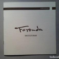 Arte: PILAR V. FORONDA. ESCULTURAS. DEDICADO Y FIRMADO. GALERÍA CAUTRO DIECISIETE. ESCULTURA. MUJERES.. Lote 148642078