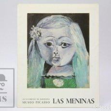 Arte: CATÁLOGO DE EXPOSICIÓN MUSEO PICASSO, BARCELONA - LAS MENINAS. AÑO 1968. Lote 149142726