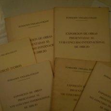 Arte: LOTE 6 PUBLICACIONES. FUNDACIÓN YNGLADA GUILLOT. . Lote 149839734