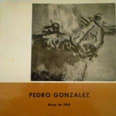 Arte: PEDRO GONZÁLEZ. SALA DE EXPOSICIONES DE LA DIRECCIÓ GRAL. BELLAS ARTES. 1968. JOSE HIERRO.. Lote 149843658