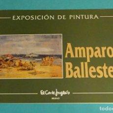Arte: AMPARO BALLESTER. EXPOSICIÓN DE PINTURA. GALERIA EL CORTE INGLÉS. Lote 150151530