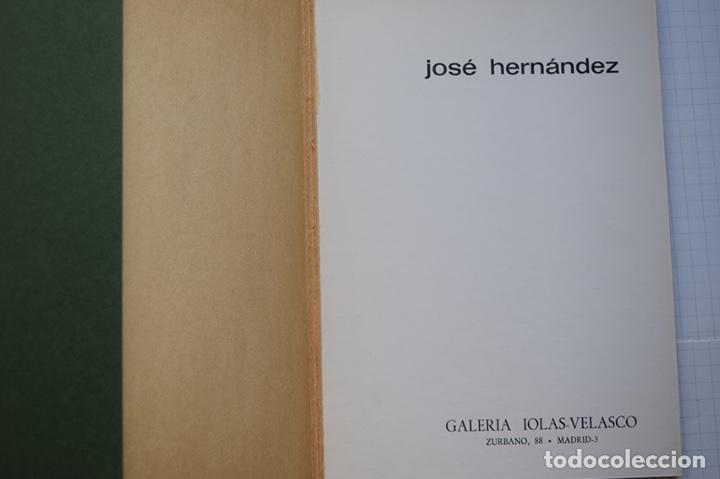 Arte: José Hernández (Tánger 1944-Málaga 2013) · Lote de 6 catálogos y 2 prospectos - Foto 3 - 150160702