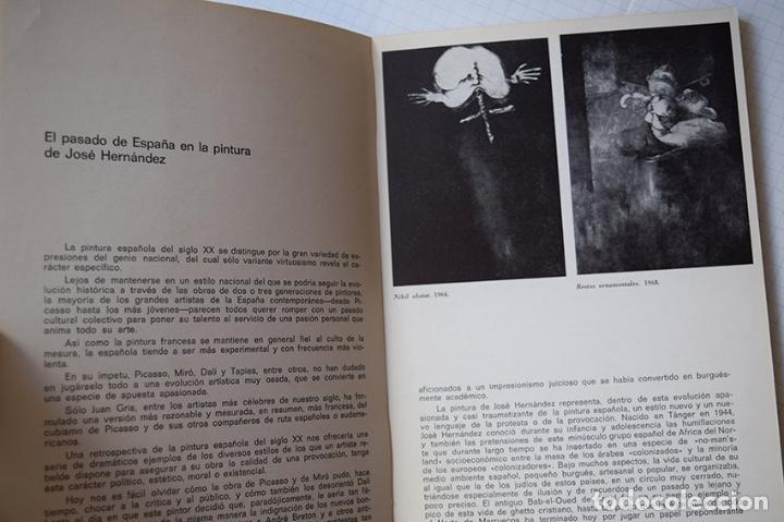 Arte: José Hernández (Tánger 1944-Málaga 2013) · Lote de 6 catálogos y 2 prospectos - Foto 4 - 150160702