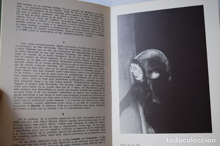 Arte: José Hernández (Tánger 1944-Málaga 2013) · Lote de 6 catálogos y 2 prospectos - Foto 6 - 150160702