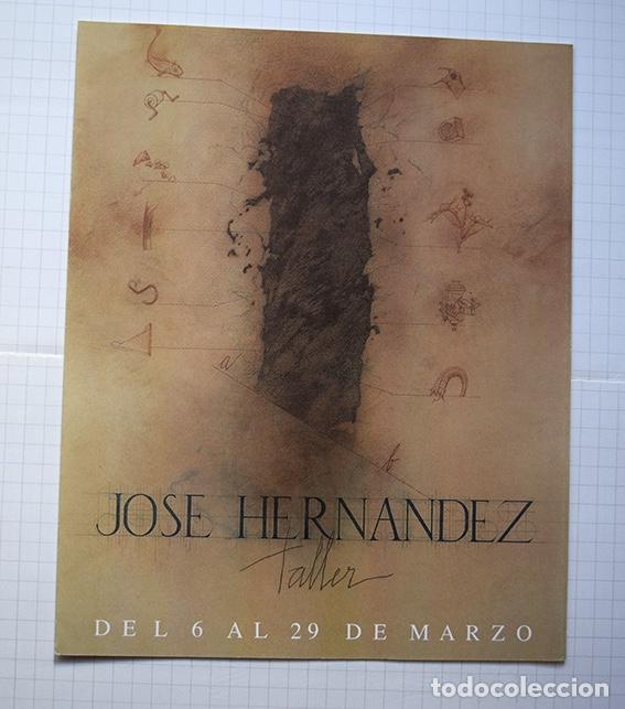 Arte: José Hernández (Tánger 1944-Málaga 2013) · Lote de 6 catálogos y 2 prospectos - Foto 27 - 150160702