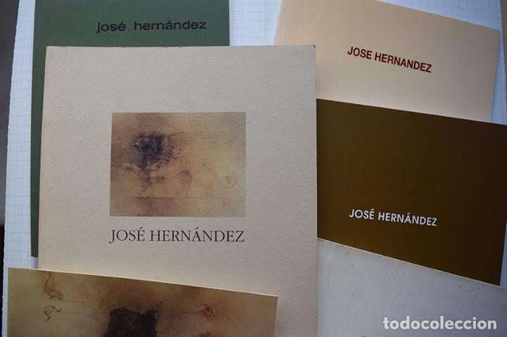 Arte: José Hernández (Tánger 1944-Málaga 2013) · Lote de 6 catálogos y 2 prospectos - Foto 30 - 150160702