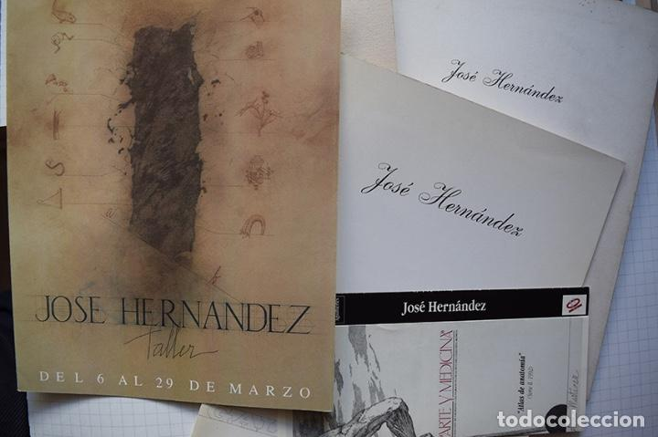 Arte: José Hernández (Tánger 1944-Málaga 2013) · Lote de 6 catálogos y 2 prospectos - Foto 31 - 150160702