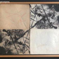 Arte: DOBLE CATÁLOGO FORTUNY DALI Y SUS BATALLAS DE TETUÁN AÑO 1962 FIRMA ORIGINAL DALI Y GALA ORIGINAL. Lote 115136419