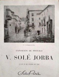 1946 V. Sole Jorba. Exposició de pintures. Exposición de pinturas. Olot. Sala Pares