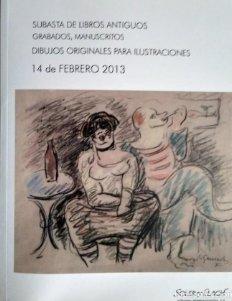 2013 Soler y Llach subasta libros, grabados, manuscritos, dibujos originales para ilustraciones