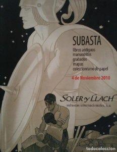 2010 Soler y Llach subasta libros antiguos, manuscritos, grabados, mapas, papel