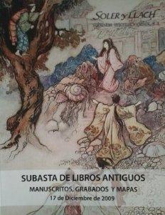 2009 Soler y Llach subasta 2009 manuscritos grabados y mapas catálogo