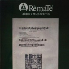 Arte: 2006 EL REMATE SUBASTAS 19 DE OCTUBRE DE 2006 LIBROS Y MANUSCRITOS. Lote 122403443
