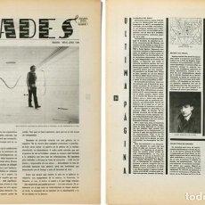 Arte: REVISTA BUADES PERIÓDICO DE ARTE, Nº 1, 1984. Lote 151648954