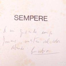 Arte: EUSEBIO SEMPERE - CATÁLOGO FIRMADO DEDICATORIA AUTÓGRAFA. Lote 152161934