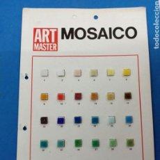 Arte: MUESTRARIO DE TESELAS DE MOSAICO ART MASTER AÑOS 1970. Lote 152348216