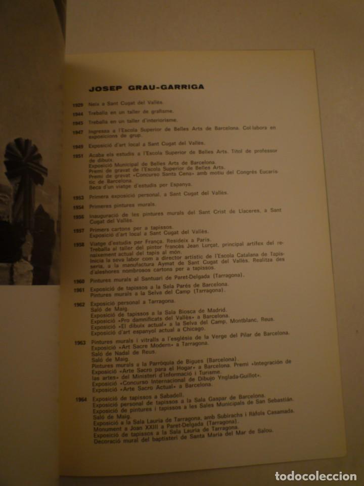 Arte: JOSEP GRAU-GARRIGA. PINTURES I TAPISSOS. MONESTIR DE SANT CUGAT. 1967 - Foto 2 - 153027170