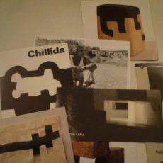 Arte: EDUARDO CHILLIDA. LOTE DE 7 ELEMENTOS DE HOJAS DE SALA E INVITACIONES. Lote 153034006